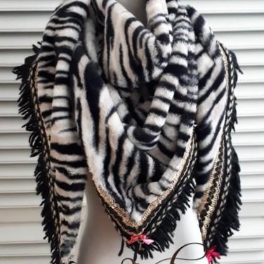 sleutelsjaal zebra
